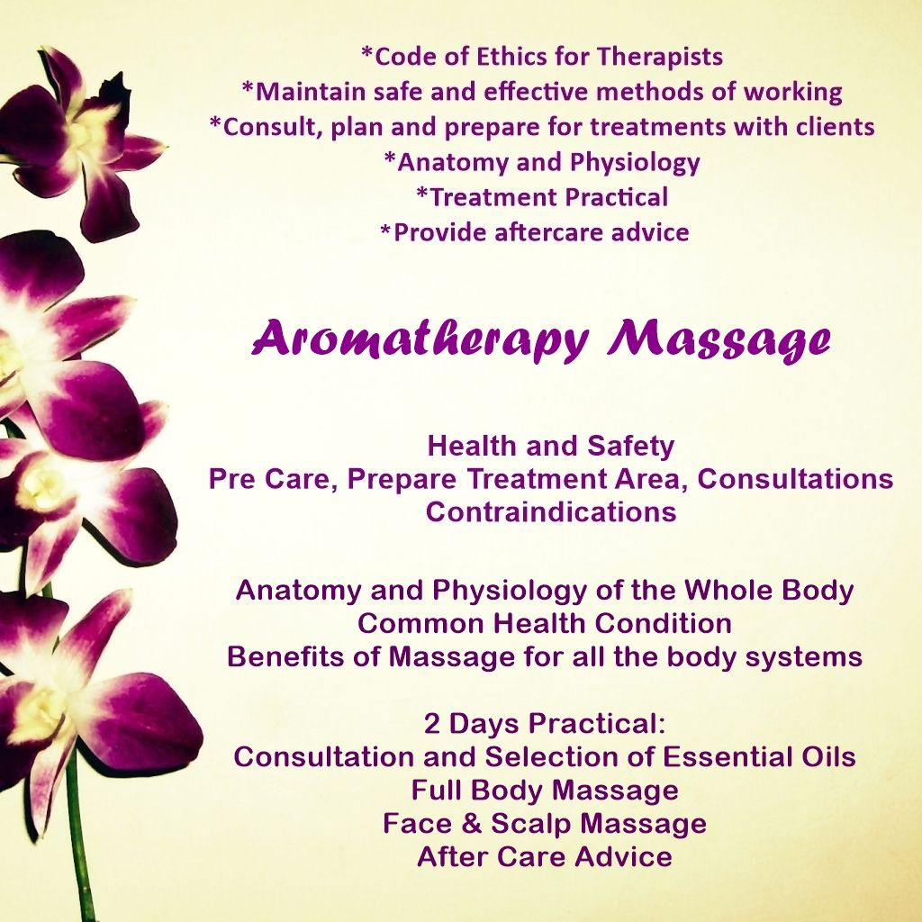Aromatherapy Massage Course Stockport