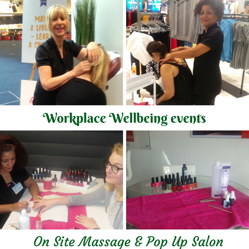 On Site, Work Place Massage and Pampering Events