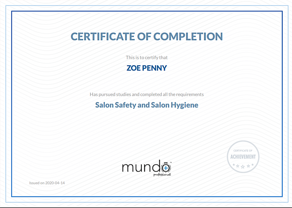 COVID 19 Salon Safety and Hygiene 2020