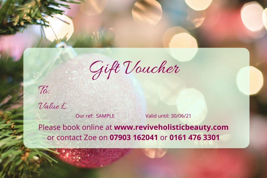 Christmas Pampering Gift Voucher Offer