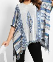 Flam Mode Aztec Knitted Poncho