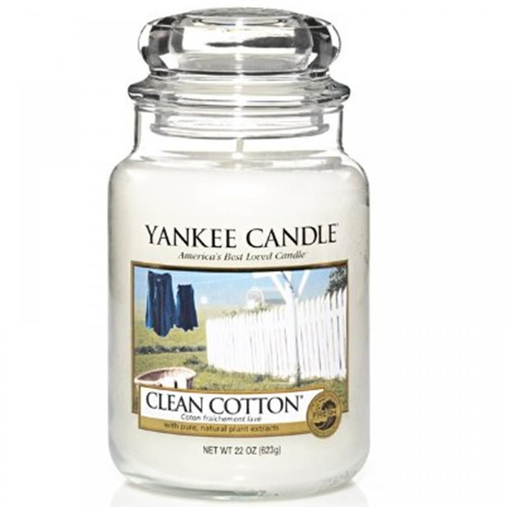 Yankee Candle Large: Clean Cotton