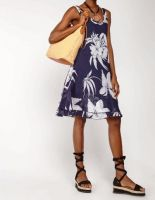 Printed Cotton Tunic Top or Dress - Leaf Print