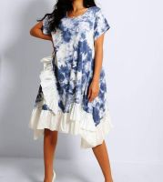 Made in Italy Tie Dye Ruffle Trim Dress or Top