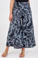 Ruched Waist Tie Dye Wide Leg Trousers
