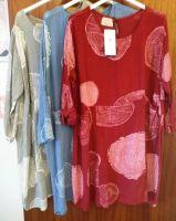 Italian Cotton Tunic with 2 Pockets - abstract bark print