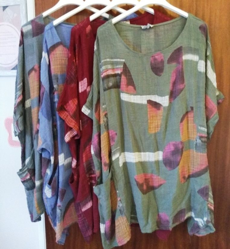Made in Italy Tunic Top - Abstract Print