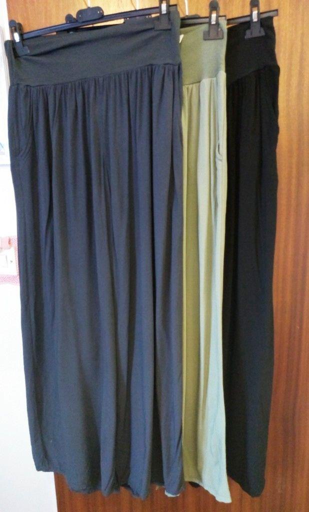 Italian Comfort Fit Wide Leg Trousers