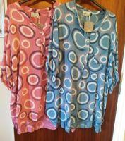 Italian Ladies Cotton Tunic - Circle Print