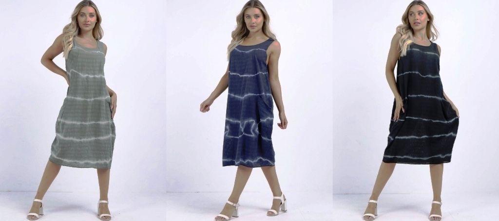 Italian Cocoon Slouchy Tie Dye Dress
