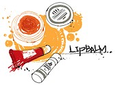 lip balm and lip scrub