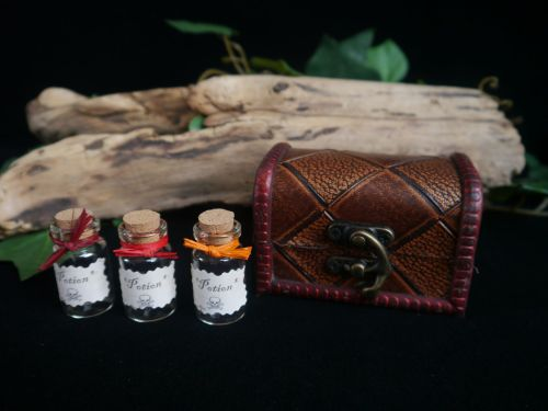3 x Witches Potion Bottles in Chest
