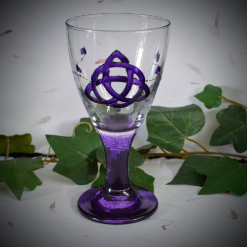 Glass Chalice with *Triquetra design*