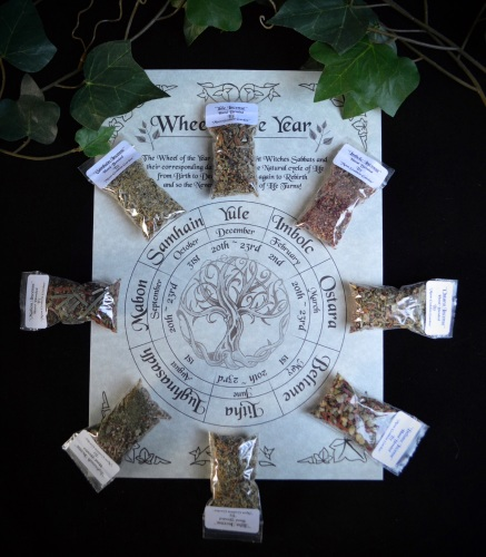 8 Witches Sabbat Incense & Wheel of the Year Poster
