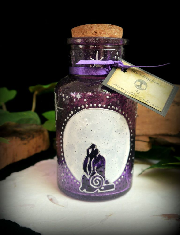 Witches Moon Gazing Hare Potion Bottle with Cork Stopper