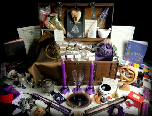 Huge Witches Starter Kit with Chest, Cauldron, Wand, Athame and much more!