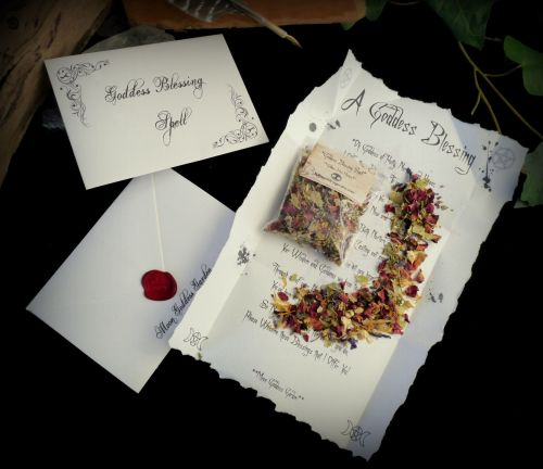 Goddess Blessing Spell Kit Ritual Set