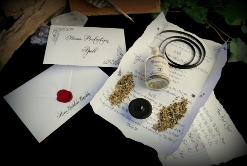 Home Protection Spell Kit Ritual Set with knot Magic