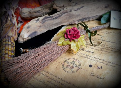 Witches Altar Besom Handmade Samhain Decorations Wicca Broomstick Pagan Bro