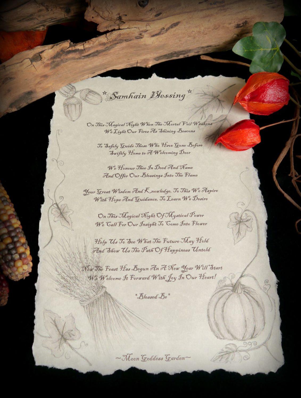 Samhain Blessing Poem Spell Leaflet She is voiced by sian thomas. samhain blessing poem spell leaflet