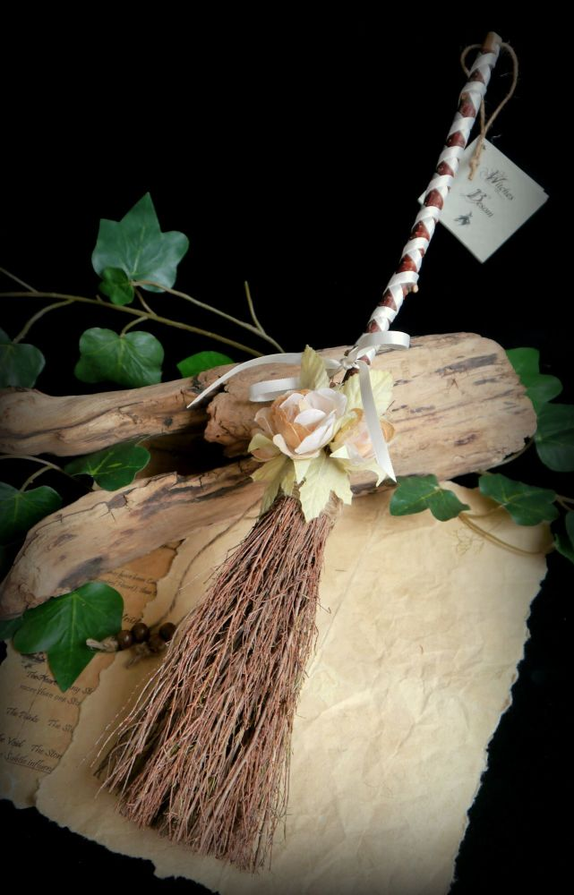 Witches Altar Besom Handmade Wiccan Broomstick Handfasting Gift Pagan Broom
