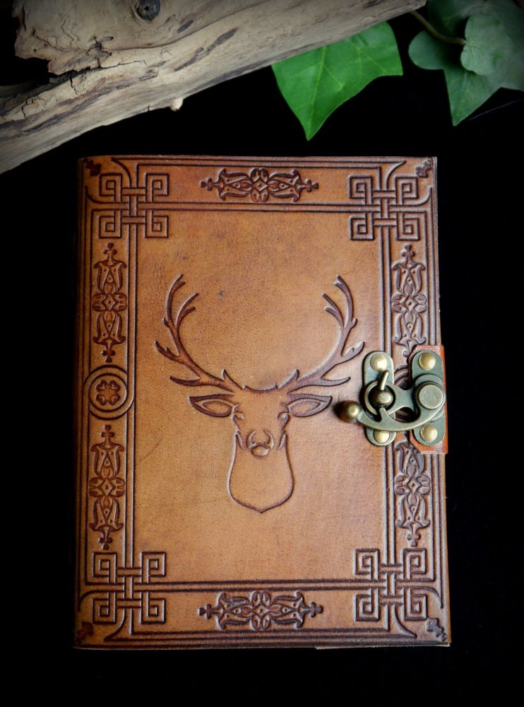Leather Stag Witches Journal Book of Shadows Diary