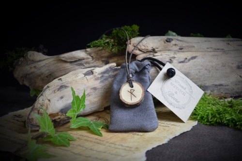 Unisex Oak Wood Viking pendant
