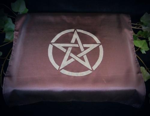 Aubergine Altar Cloth with Pentacle design