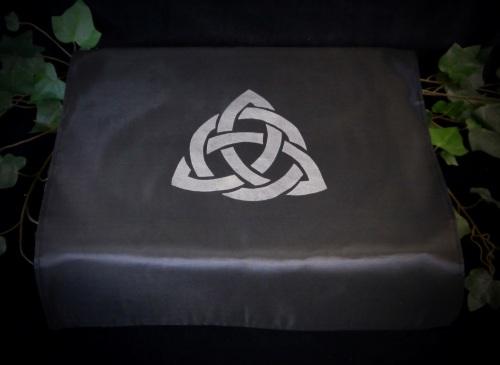 Black Altar Cloth with Triquetra Design