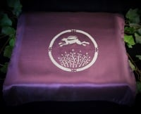 Purple Altar Cloth with Hare and Moon Design
