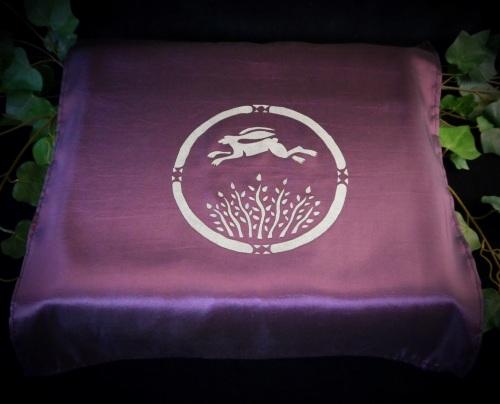 Purple Altar Cloth with Fairy Goddess Design