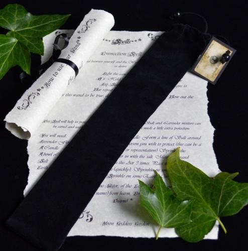 Black Velvet Wand Bag