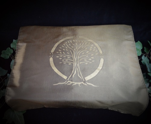 Brown/ Olive  Altar Cloth with Tree of Life design