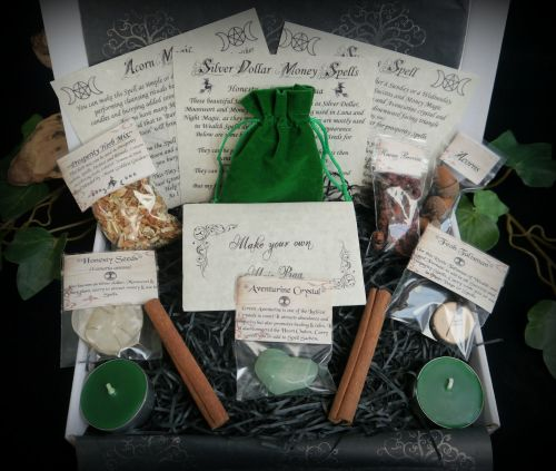 Witches Success and Prosperity Spell Casting Kit Wiccan Pagan Witchcraft Gi
