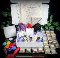 Witches Starter Kit with Willow Wand herbs and leaflets