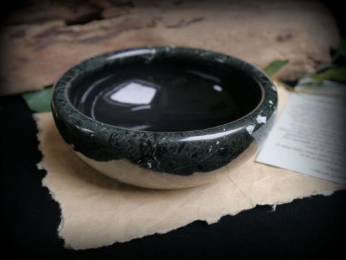 Black Marble Scrying Bowl Witch Pagan Wicca witchcraft Divination N8