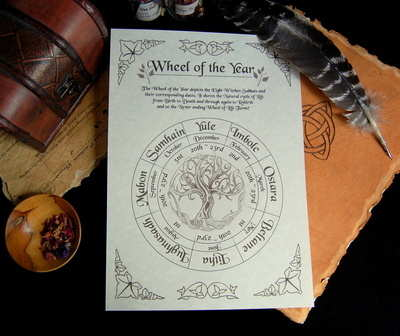 Wheel of the Year Witches Sabbats Leaflet/Poster