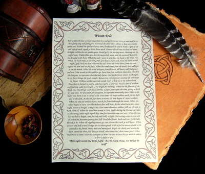 The Wiccan Rede Leaflet