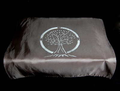 Black Altar Cloth with Tree of Life design