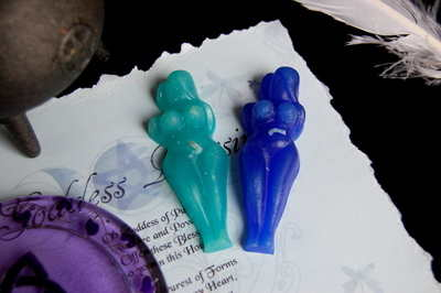 Goddess Spell Candles *Blue & Aqua*