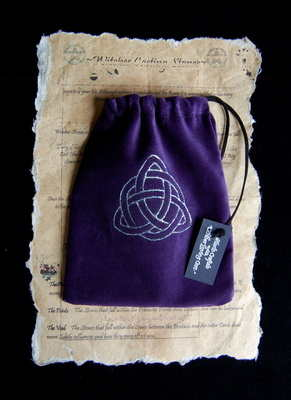 Tarot Bag with *Silver Triquetra design*