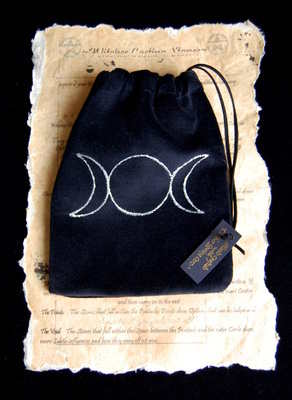 Tarot Bag with *Triple Moon design*