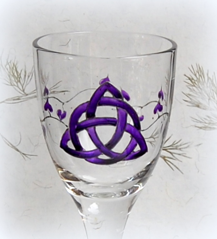 Chalice with Purple Triquetra