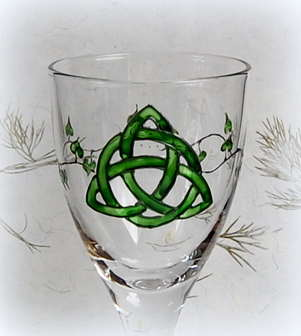 Chaclice with Green Triquetra