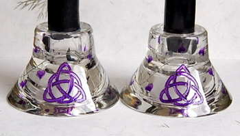 Candle Holders with Triquetra