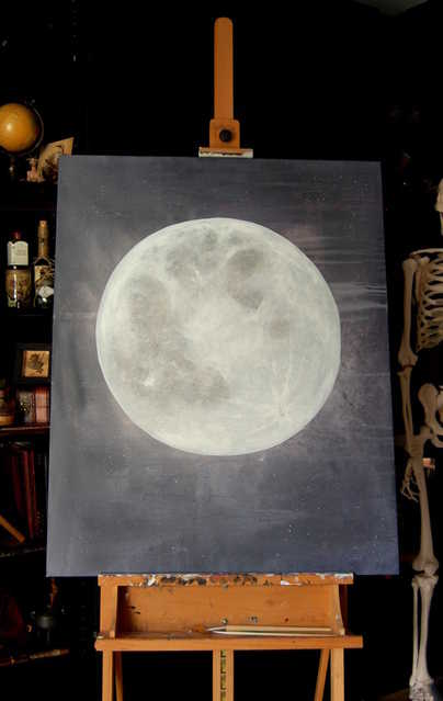 Blue Moon on Easel
