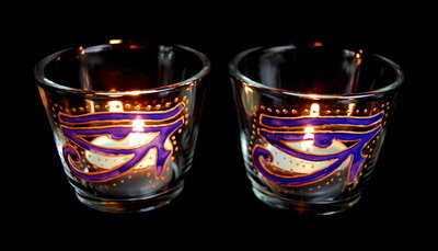 Eye of Horus Candle Holders