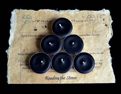 *Black* 6 x Tea Candles for Spells