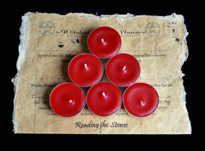 *Red* 6 x Tead Candles for Spells