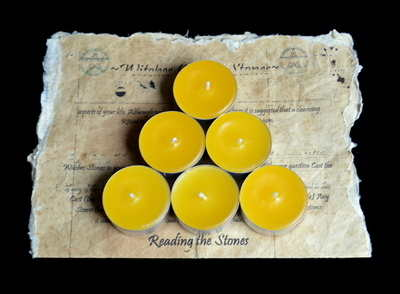 *Yellow* 6 x Tea Candles for Spells